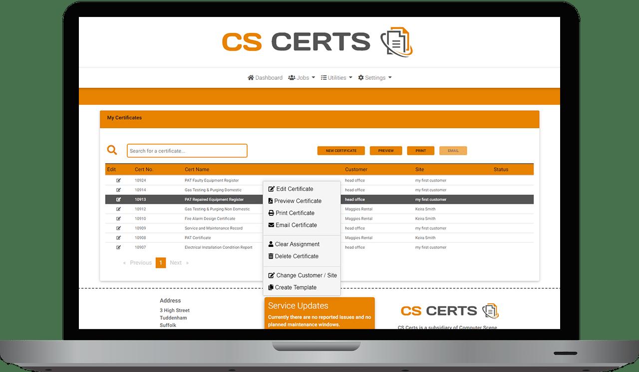 CS Certs